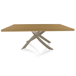 BONTEMPI CASA table with sand frame ARTISTICO 20.01 200x106 cm