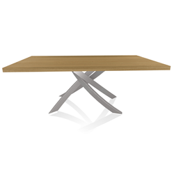BONTEMPI CASA table with light grey frame ARTISTICO 20.01 200x106 cm