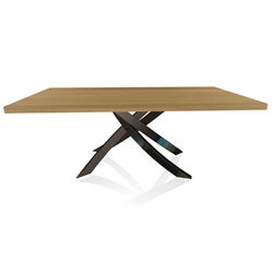 BONTEMPI CASA table with glossy black frame ARTISTICO 20.01 200x106 cm