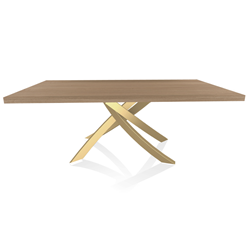 BONTEMPI CASA table with gold frame ARTISTICO 20.01 200x106 cm