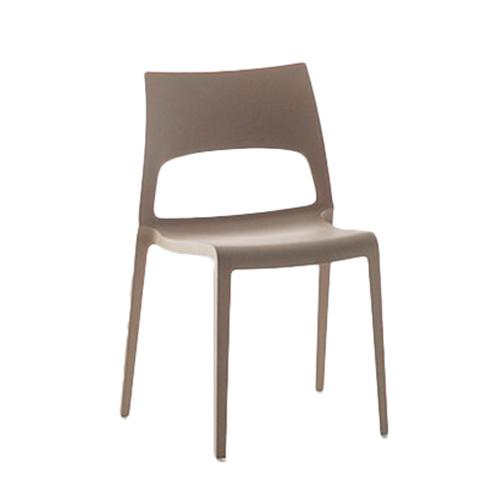 BONALDO set da 2 sedie impilabili IDOLE (Tortora Polipropilene opaco)