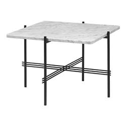 GUBI coffee table with black frame TS 55 x 55 x H 40 cm