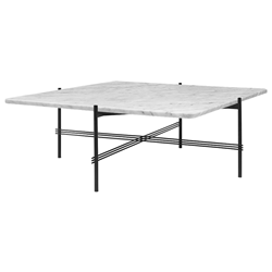 GUBI coffee table with black frame TS 105 x 105 x H 40 cm