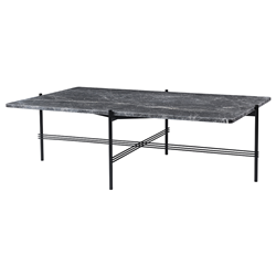 GUBI coffee table with black frame TS 80 x 130 x H 40 cm