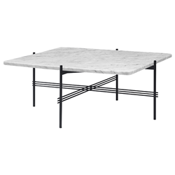 GUBI coffee table with black frame TS 80 x 80 x H 40 cm