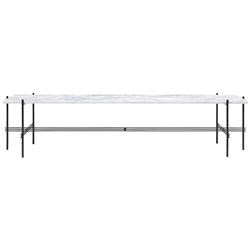 GUBI coffee table with black frame TS CONSOLE 180 x 40 x H 40 cm