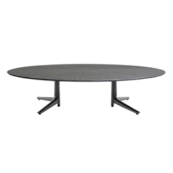 KARTELL coffee table MULTIPLO LOW with oval top
