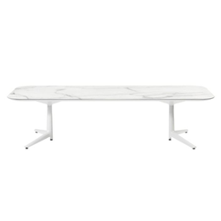 KARTELL coffee table MULTIPLO LOW with rounded rectangular top