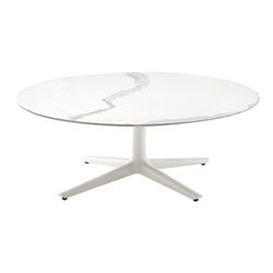 KARTELL coffee table MULTIPLO LOW with rounded plan Ø 118 cm