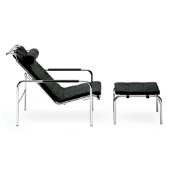 ZANOTTA lounge chair with ottoman GENNI