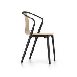 VITRA chair with arms BELLEVILLE ARMCHAIR with arms WOOD