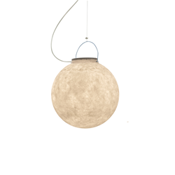 IN-ES.ARTDESIGN outdoor suspension lamp LUNA 1 OUT