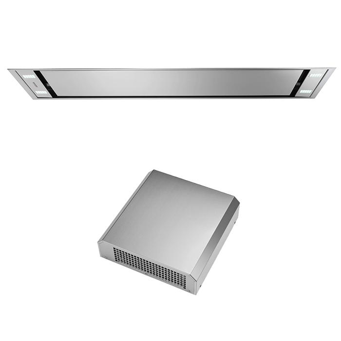falmec hotte au plafond stella 120 cm moteur ext rieur 1000 m3 h acier inox. Black Bedroom Furniture Sets. Home Design Ideas