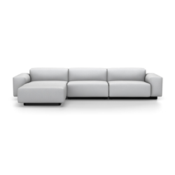 VITRA sofa three places with chaise longue to the left SOFT MODULAR SOFA