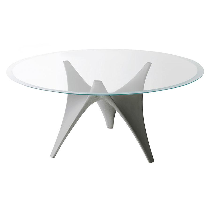 Tavoli Rotondi In Vetro Cristallo.Molteni C Tavolo Rotondo Arc O 160 Cm Grigio Vetro