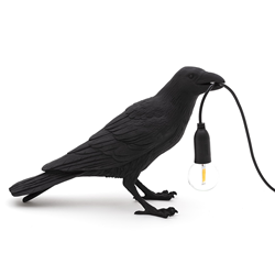 SELETTI table LED lamp BIRD LAMP WAITING BLACK EDITION