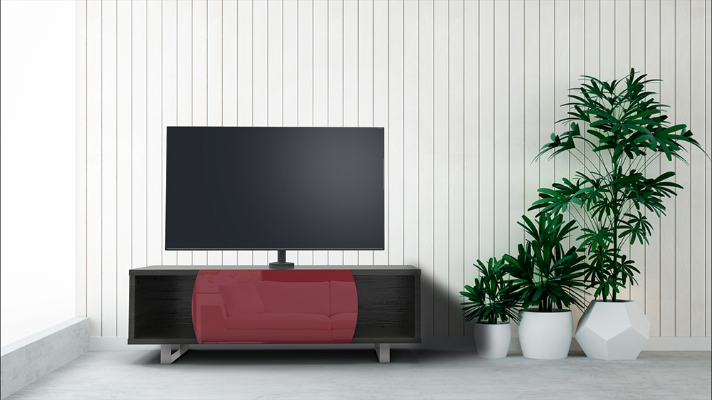 Porta Tv Lcd Vetro.Kairos Home Mobile Porta Tv Mk130 Fino A 55 Rovere Grigio