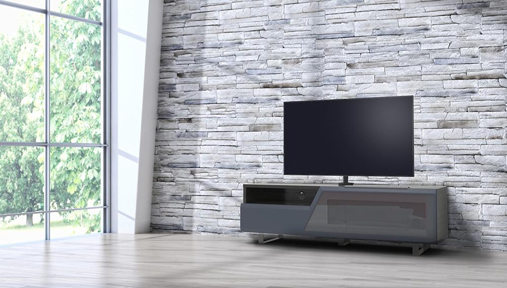Porta Tv Rovere Grigio.Kairos Home Mobile Porta Tv Mk160 Fino A 65 Rovere Grigio