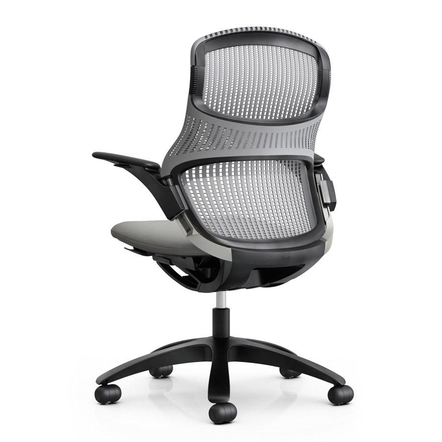 foncé avec roulettes à accoudoirs de GENERATION KNOLL chaise bureau base et qzMVSLGUp