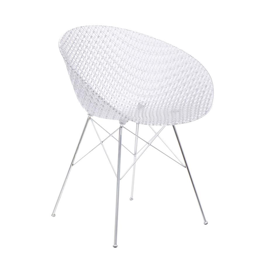 KARTELL sedia SMATRIK (Cristallo - Policarbonato trasparente e acciaio)