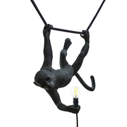 SELETTI suspension LED lamp MONKEY LAMP SWING BLACK
