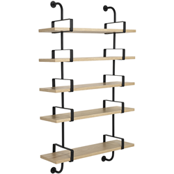 GUBI wall bookcase DEMON SHELF 5 shelves W 95 cm Matégot Collection