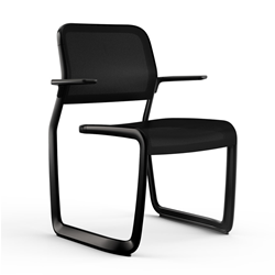 KNOLL chair with arms NEWSON ALUMINUM CHAIR