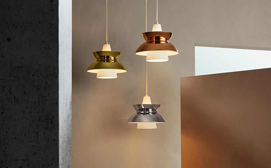 Lampada In Rame Design : Louis poulsen lampada a sospensione doo wop rame alluminio e