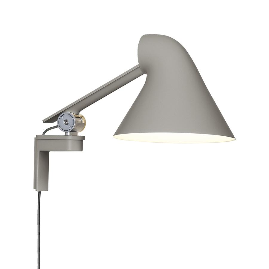Lampade Da Parete Con Braccio louis poulsen lampada da parete njp con braccio corto (grigio chiaro 3000k  - alluminio)