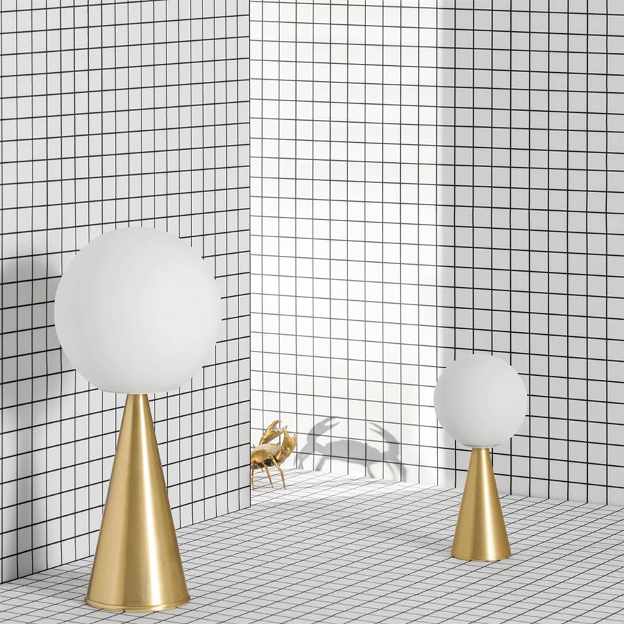 Mini Ledjaune De Fontana Bilia Verre Lampe Arte Table Soufflé Y7gf6yvb