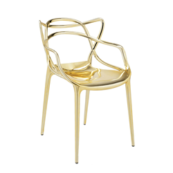 KARTELL set of 2 chairs MASTERS METAL PRECIOUS COLLECTION