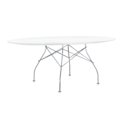 KARTELL oval table GLOSSY 194 x 120 cm