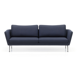 VITRA sofa three places SUITA with back cushions Classic