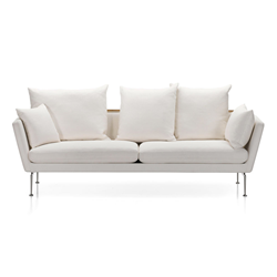 VITRA sofa three places SUITA with back pointed cushions