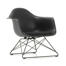 VITRA Eames Plastic Armchair with cushion and black base LAR