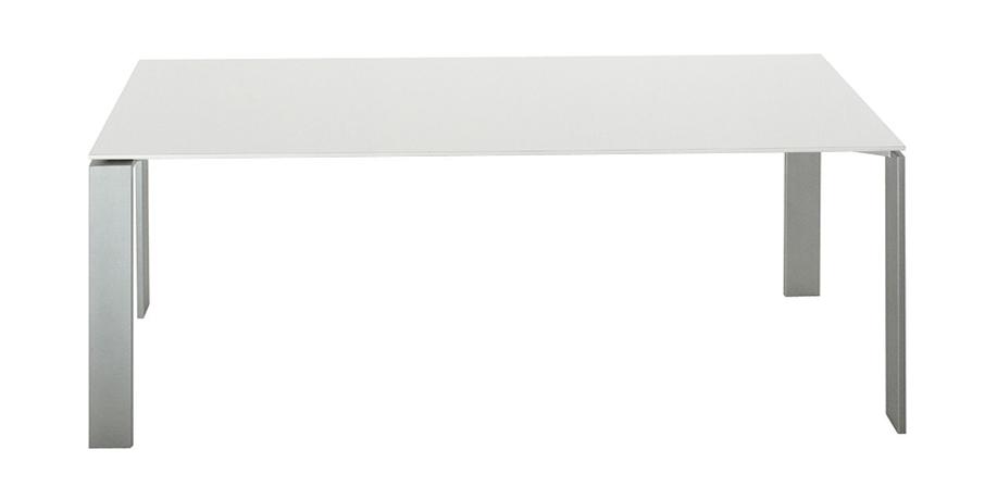 Gambe In Alluminio Per Tavoli.Kartell Tavolo Four Soft Touch Dim 190x72x79 Piano Bianco E