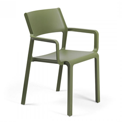 NARDI outdoor chair with arms TRILL ARMCHAIR