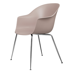GUBI chair with arms BAT DINING CHAIR with chrome base