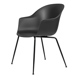 GUBI chair with arms BAT DINING CHAIR with black base