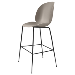 GUBI stool BEETLE BAR CHAIR with black base
