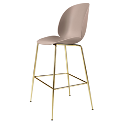 GUBI stool BEETLE BAR CHAIR with brass base