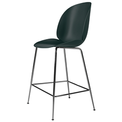 GUBI stool BEETLE COUNTER CHAIR with black chrome base