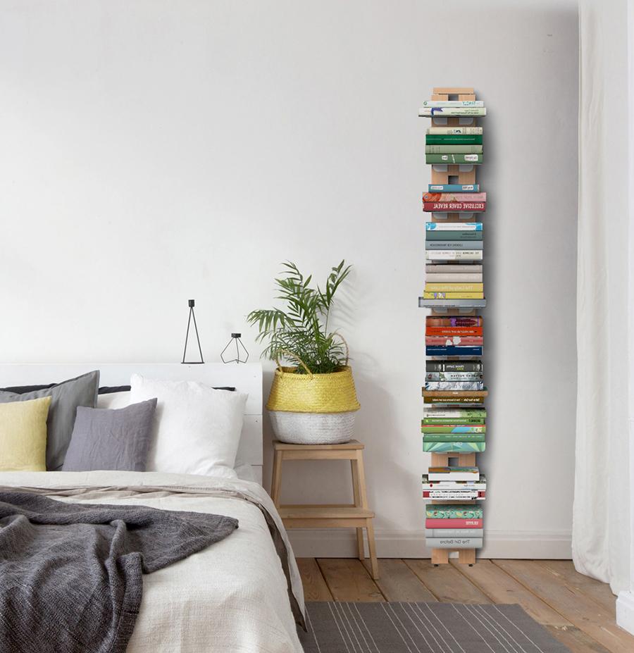 LE ZIE DI MILANO bibliothèque sur pied fixée au mur ZIA ...