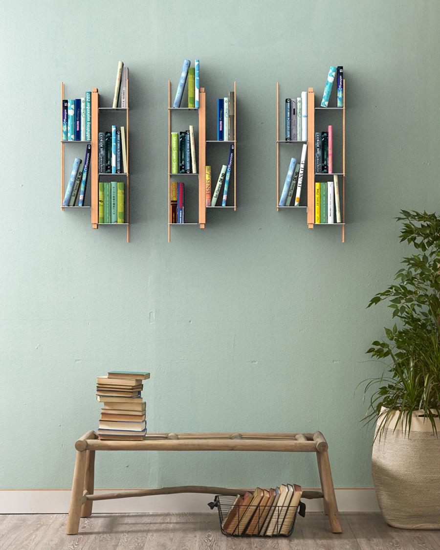 Libreria A Muro Sospesa.Le Zie Di Milano Libreria Sospesa Da Parete Zia Veronica