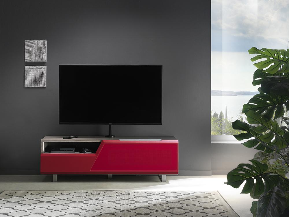 Porta Tv Lcd Vetro.Kairos Home Mobile Porta Tv Mk160 Kc055ne Fino A 55 Rovere