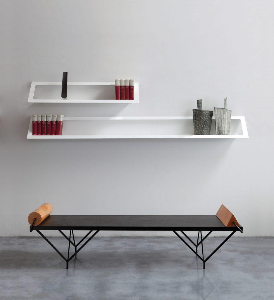 Mensole Da Parete Cucina zeus mensola da parete air shelf wall rack (l 180 cm - metallo fosfatato  nero)