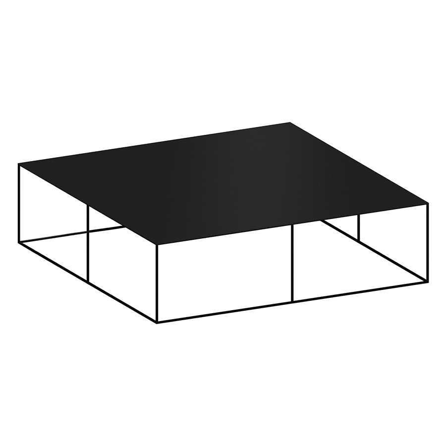 Zeus Table Basse Carre Slim Irony Low Table L 124 Cm Metal