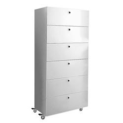 KRIPTONITE container on wheels with 6 drawers W 60 cm