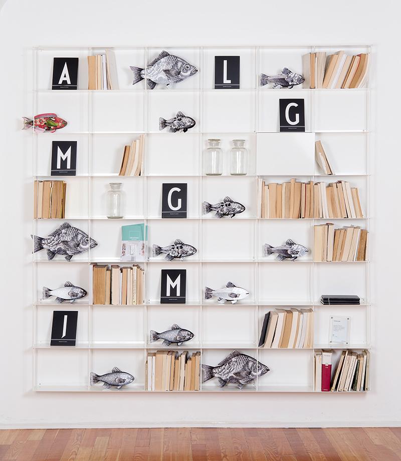 Favorito KRIPTONITE libreria da parete KROSSING 200 x H 200 cm DB62