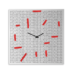 dESIGNoBJECT orologio da parete CROSSWORD